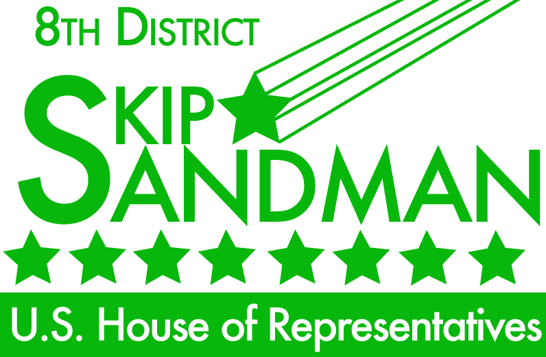 "Logo for ""8th District - Skip Sandman for US House of Representatives"""