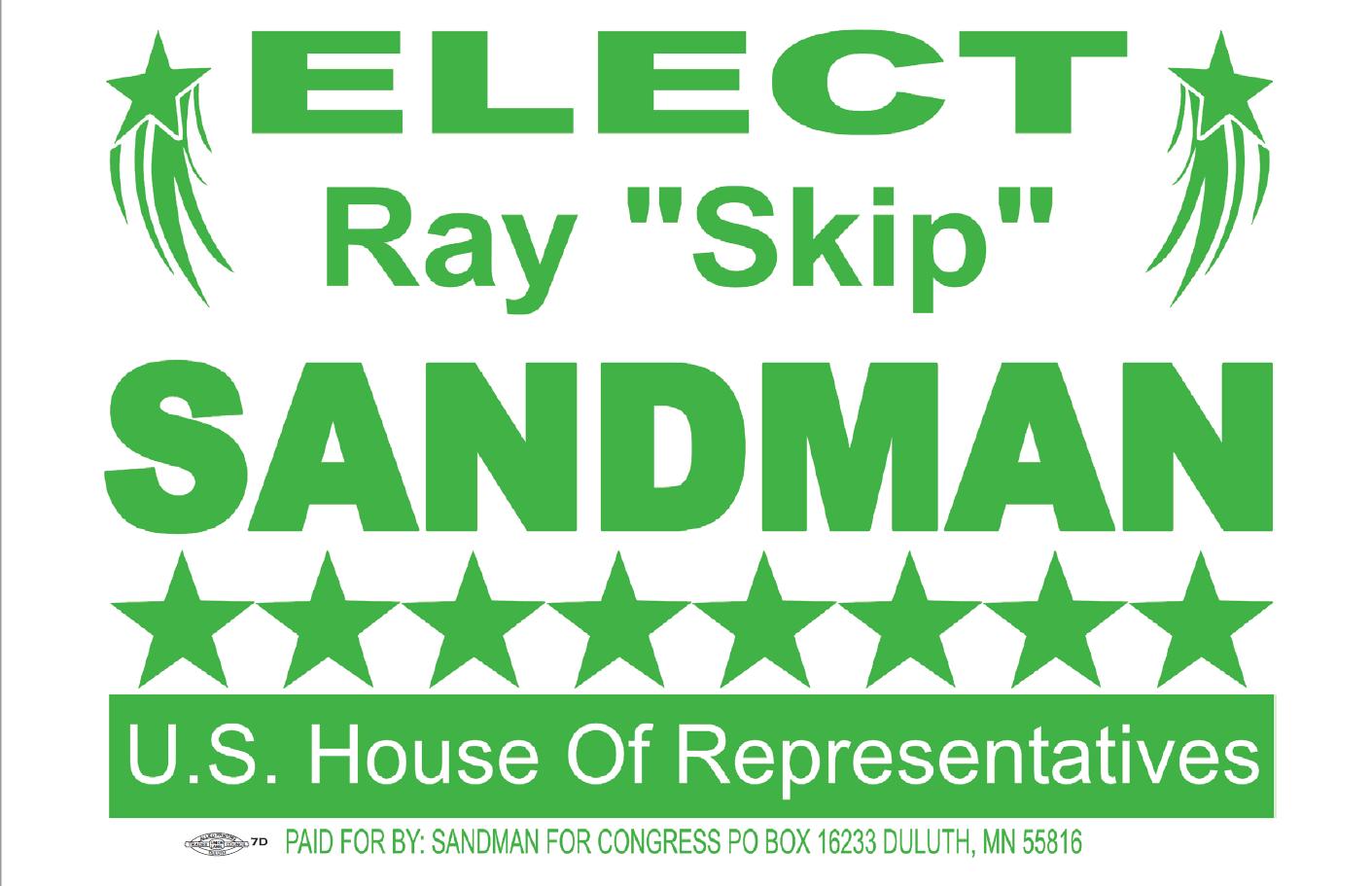 Skip Sandman for U.S House